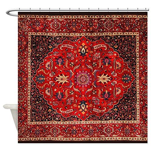 Bathroom Rugs Ideas | CafePress Antique Persian Rug Shower Curtain  Decorative Fabric Shower Curtain * Read