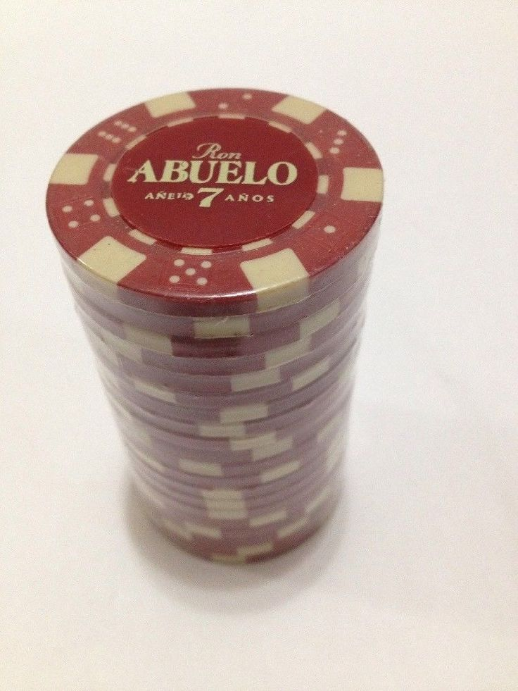 Sealed Roll of 20 Ron Abuelo Anejo 7 Anos Advertising Rum Poker Chips