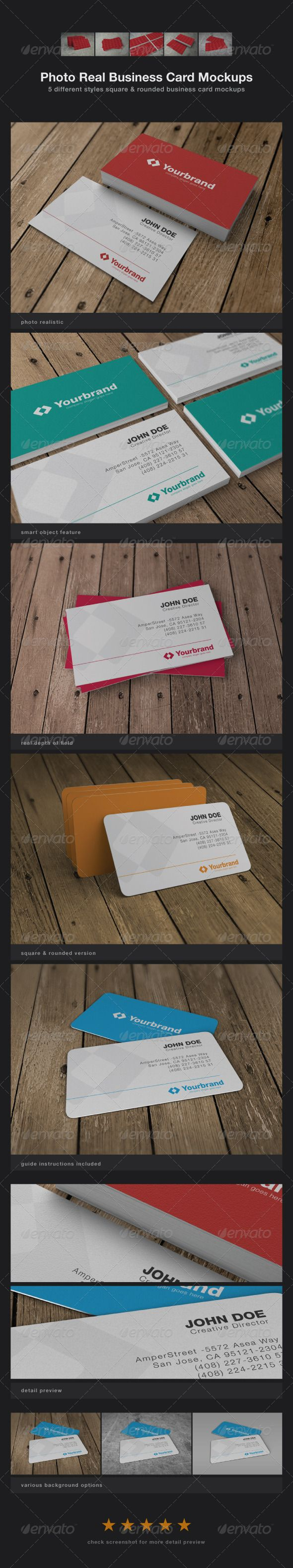 99 best mockups images on pinterest miniatures mockup and model photo real business card mockups reheart Images