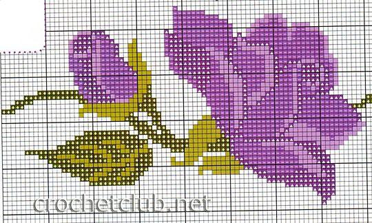 полотенце с вышитыми цветами 2