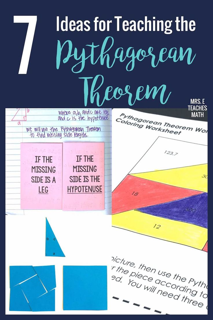330 best math middle school images on pinterest math middle 7 ideas for teaching the pythagorean theorem math middle schoolhigh fandeluxe Gallery