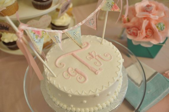 Shabby Chic Cake Banner Cake topper by OnceUponChicBoutique, $18.00