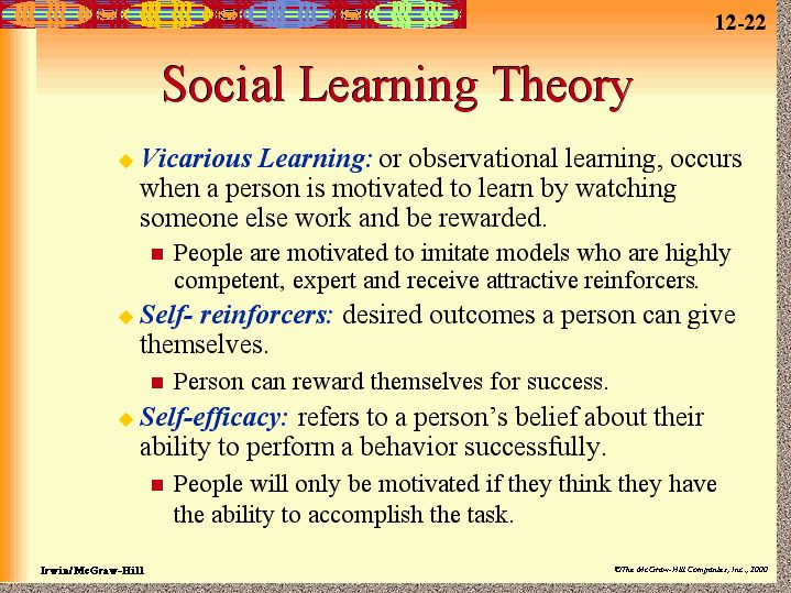 Learning Theory | Social Learning Theory by Albert Bandura