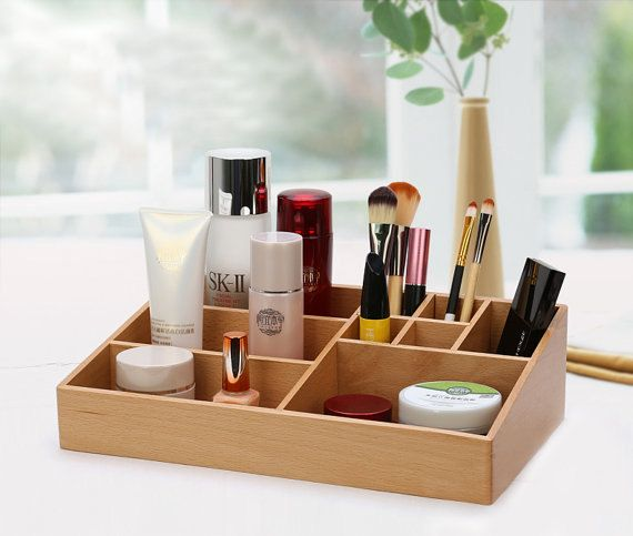 Incense cedar wooded beauty makeup organizer station Display Case ($89.00)