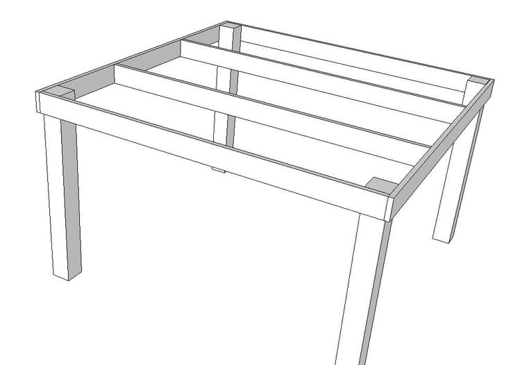 Ana White   Build a Pub/Counter Height Table (Seats 8)   Free and Easy DIY Project and Furniture Plans