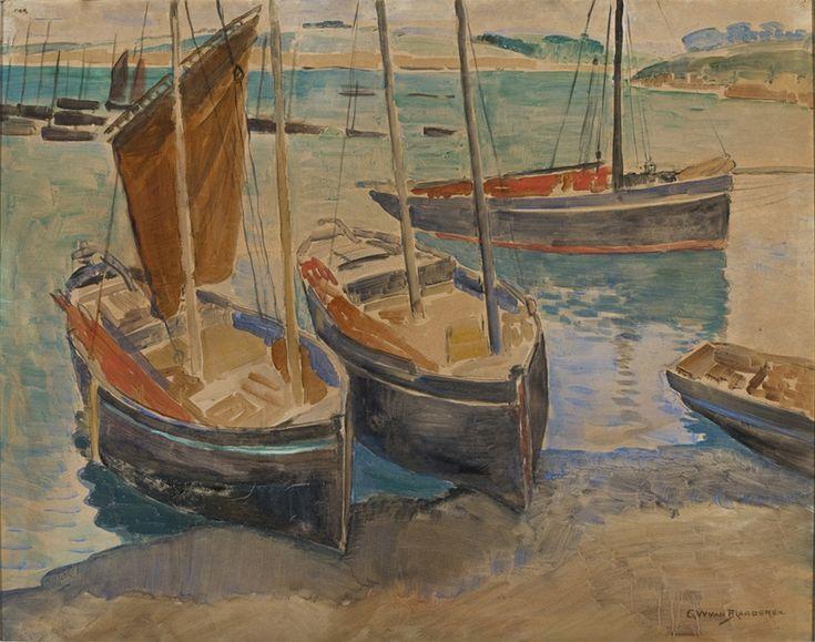 Gerrit_Willem_van_Blaaderen_-_Porto_com_Navios_na_Bretanha.