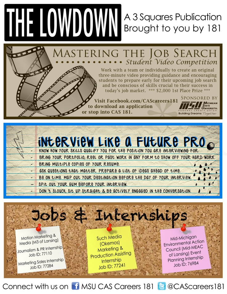Pin by ComArtSci Career Services on The Lowdown Pinterest - sales intern job description