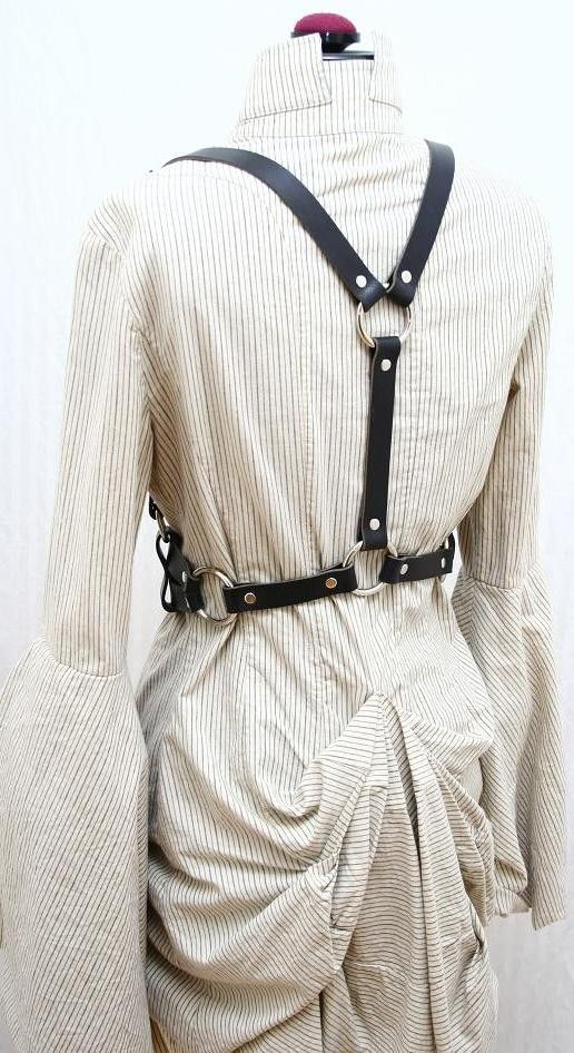 Nora James Leather Double Strap Harness Belt от AudraJean на Etsy