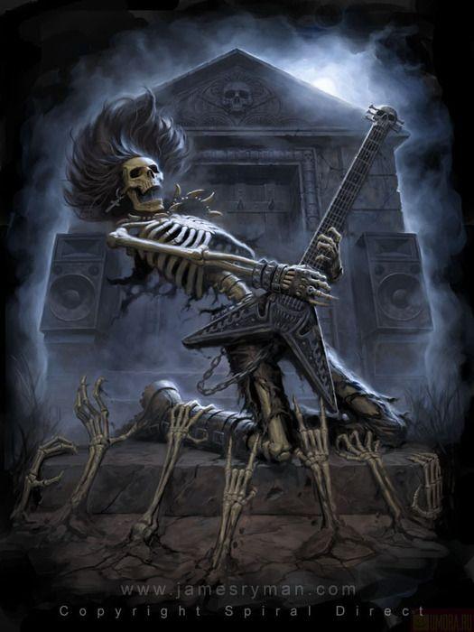 картинки скелетов рокеров нее