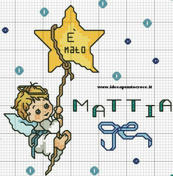 164 best punto croce images on pinterest for Angioletti punto croce per bambini