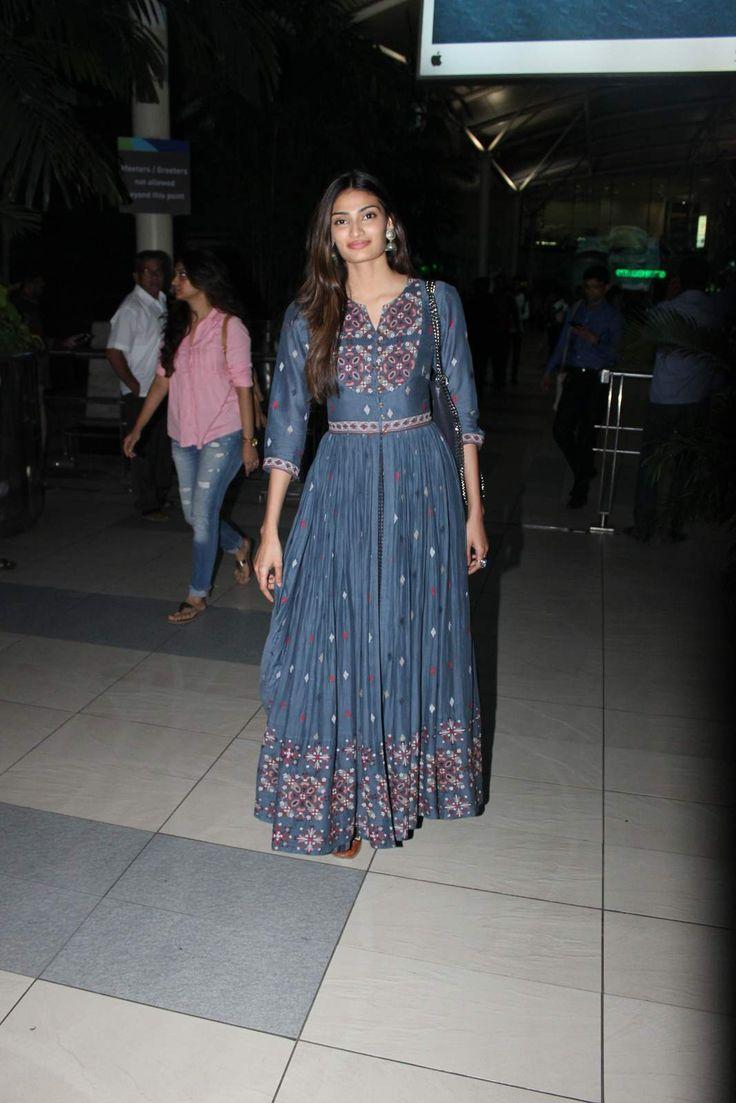 Athiya Shetty wearing a Vrisa by Rahul n Shikha dress and bag by @stellamccartney