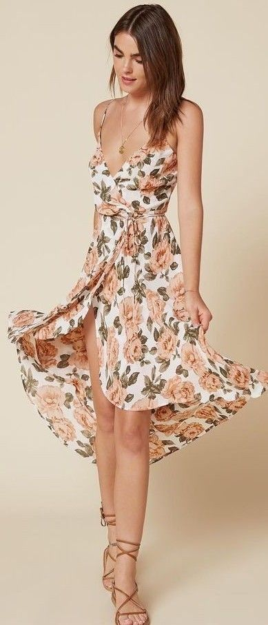 #summer #flawless #outfitideas | Floral Midi Dress