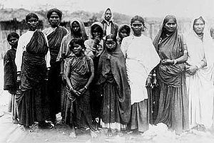 "Indian female ""Coolie woolwashers"" in 19th century South Africa"