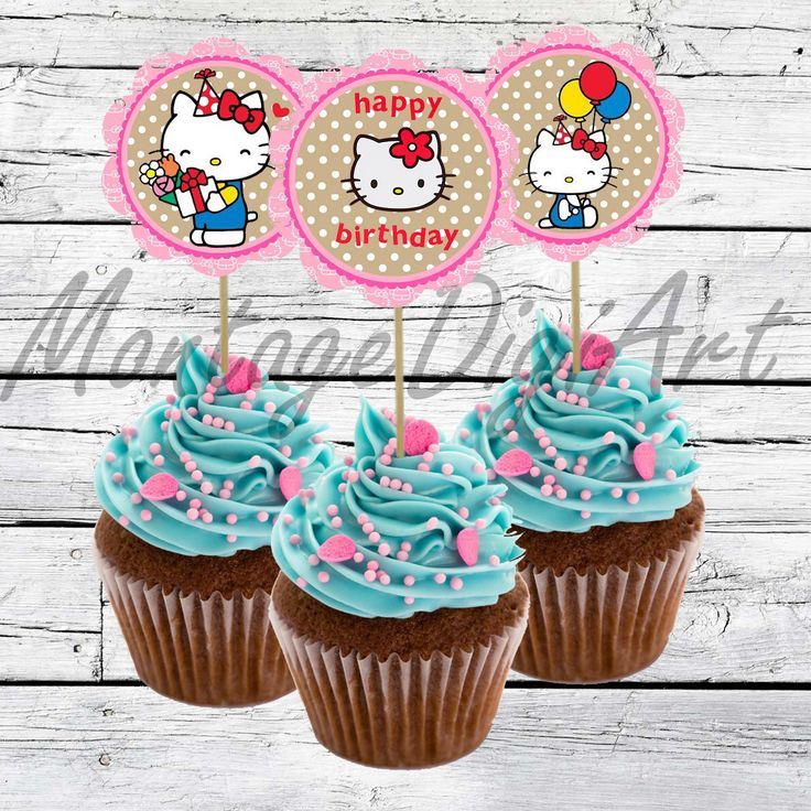 "Hello kitty Cupcake Toppers- Hello kitty Birthday Party-2,5""-Hello kitty Stickers-printable Hello kitty decoration Instant Digital Download by MontageDigiArt on Etsy https://www.etsy.com/listing/270776295/hello-kitty-cupcake-toppers-hello-kitty"
