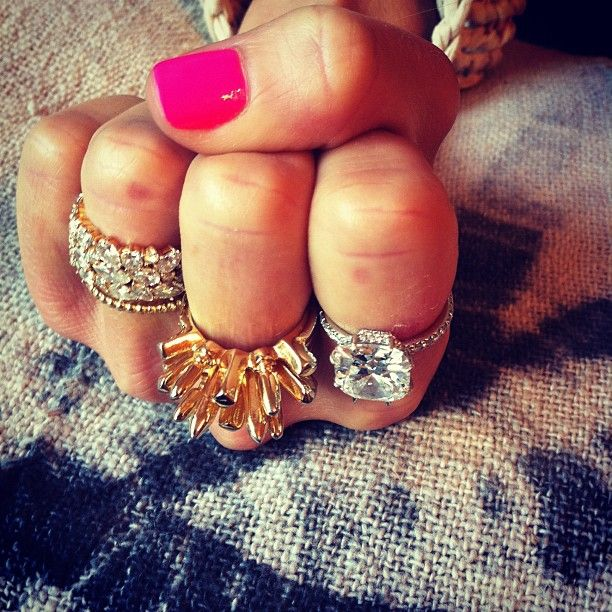 Love the rings and the hotpink