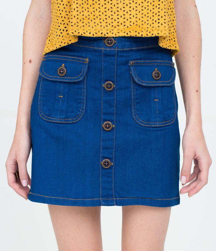 Saia Feminina em Jeans com Abotoamento - Lojas Renner