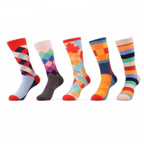 Very Cool and Comfortable Patterned Dress Socks Pack of Five (5)