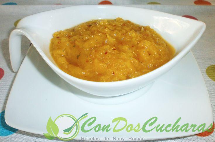 ConDosCucharas.com Salsa de papaya agridulce - ConDosCucharas.com