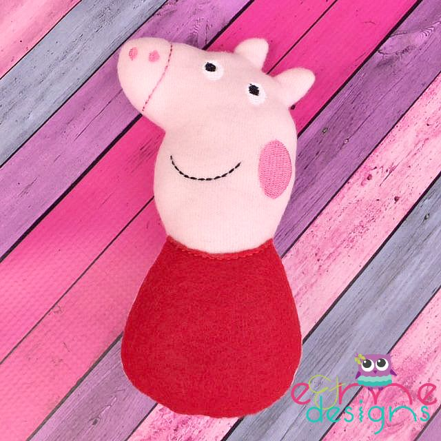 Pep Pig Snuggler Embroidery Design - E&Me Designs