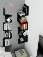 Mobidea Corner Kitaplık - Siyah