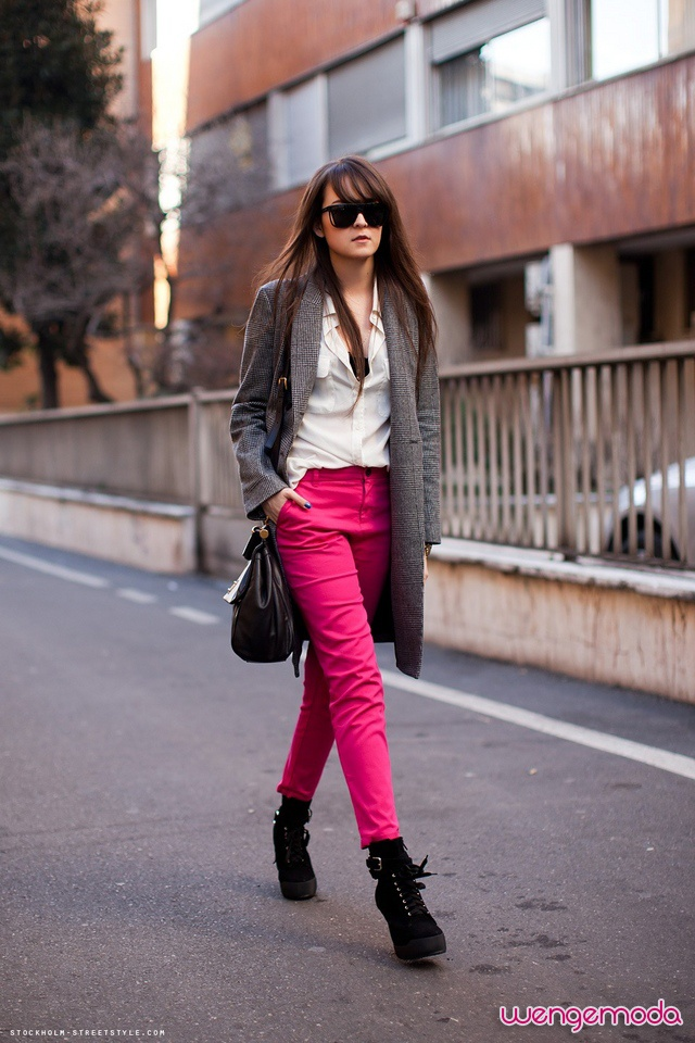 2013 Kış: Bot Modelleri ve Kombinler « Wenge Moda: Outfits, Fashion, Color, Street Style, Pink Jeans, Fall Winter, Hot Pink Pants