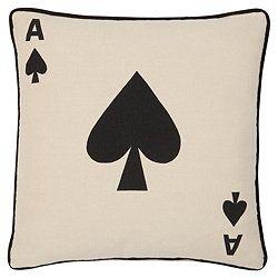 F Home Ace Of Spades Cushion.