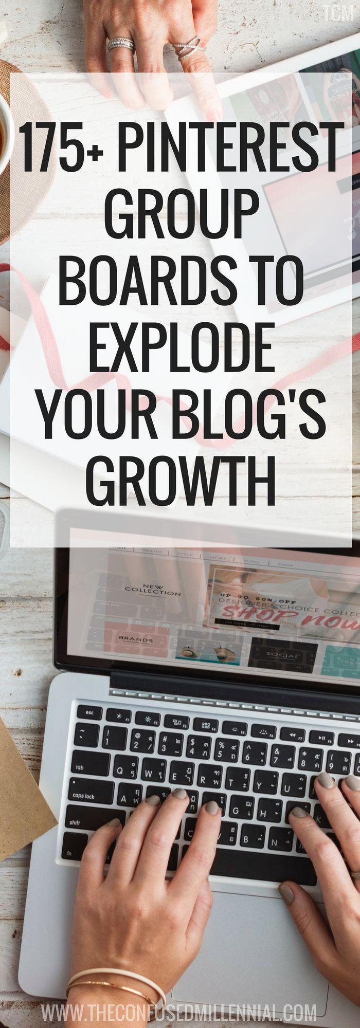 Pinterest tips | blogging tips | list of group boards