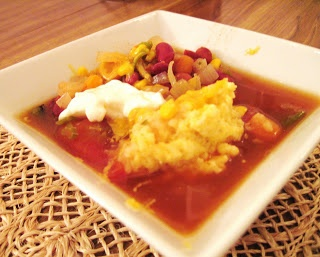 The Cook, The Dishwasher, and The Cookbooks: Southwestern Bean Soup with Cornmeal Dumplings