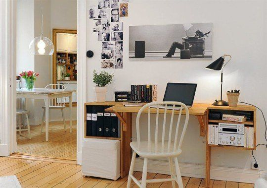 The Faux Floating Fold-Out Desk
