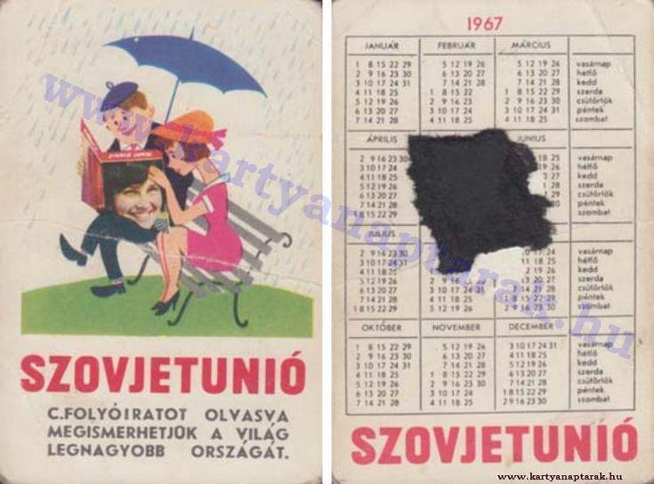 1967 - 1967_0115 - Régi magyar kártyanaptárak