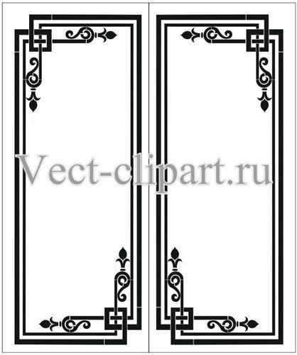 Пескоструйный рисунок рамка http://vect-clipart.ru/