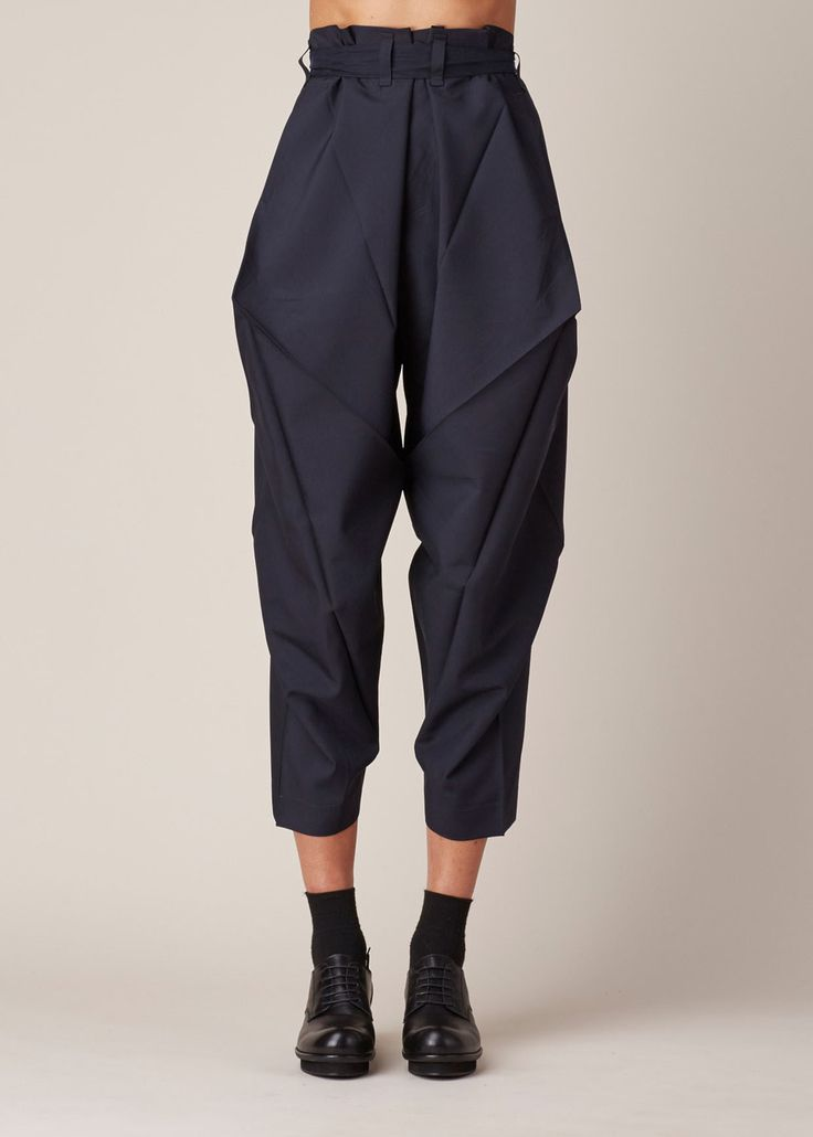 Visions of the Future: Issey Miyake Origami Culottes (Navy)