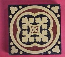 1870 Encaustic English Tile by William Godwin