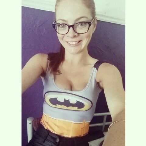 I decided I wanted to be #batman today. #theoddfactory #batgirl #glasses #geek #selfie