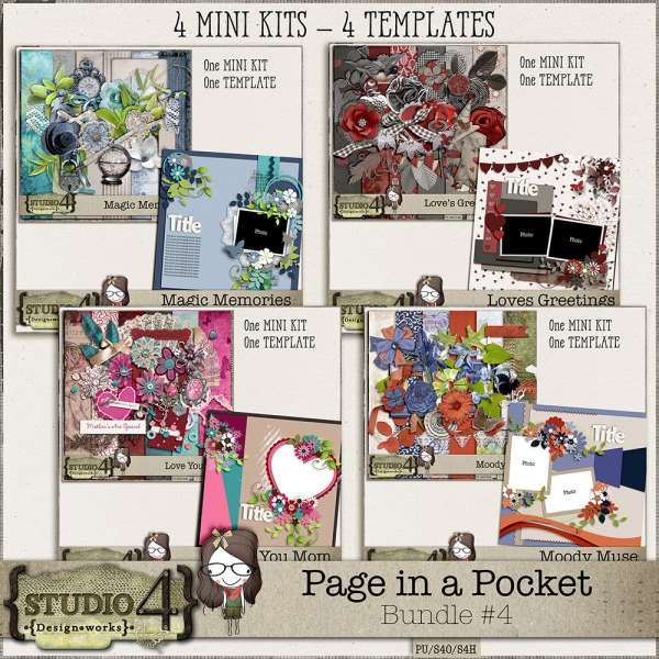 Digital Art :: Bundled Deals :: Page in a Pocket - Bundle #4