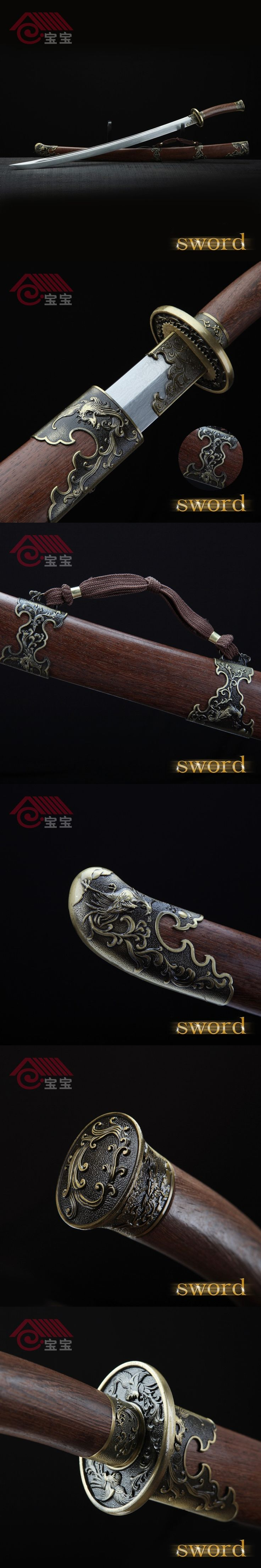 LQS15hj100036 vintage home decor collection riffled iron sword katana shabby chic decoration crafts Steel Business Gift Carved $207