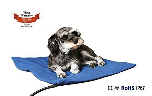 Namsan Warmer Pet Heat Mat  Safety Indoor Cat Dog Pet Bed Electric Heating Blanket with UL Cert Adaptor 198 198 Inches >>> Read more reviews of the product by visiting the link on the image.