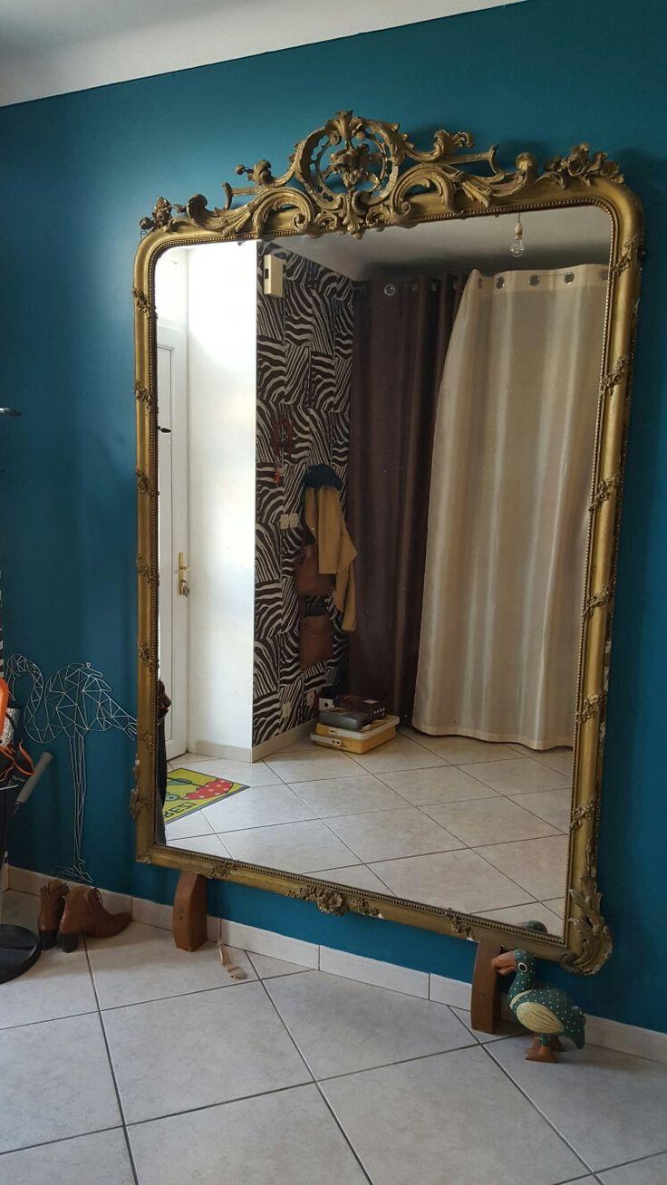Entrée!! Vieux miroir Osez le bleu