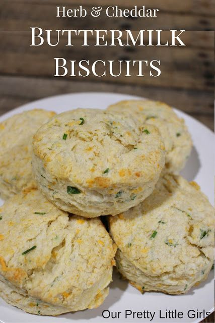Herb and Cheddar buttermilk biscuits. So flaky and tender.