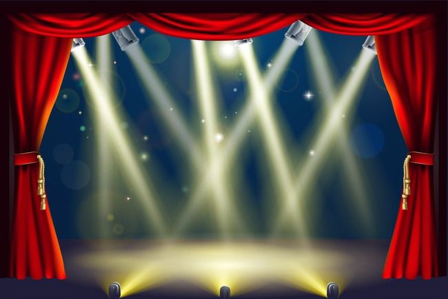 Stage Lighting Fountain At Night Stage Png Transparent Clipart