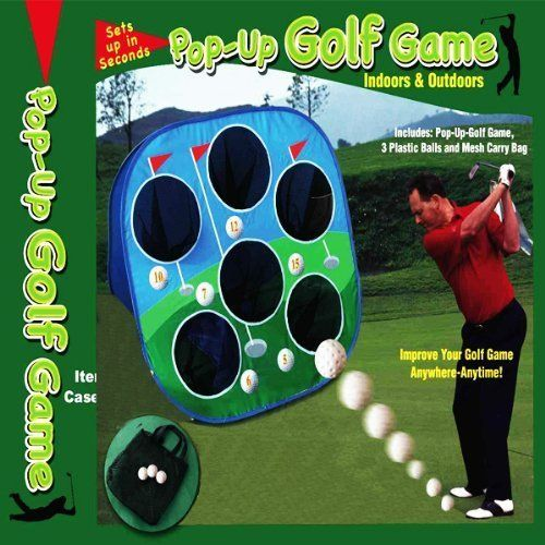 POP-UP CHIPPING TARGET GOLF GAME by Target. $14.51. Improve your golf game indoors or outdoors with the help of the pop-up golf game. The net is portable and features a pop-up style that folds easily into the included mesh carry bag. A great supplement to your range works, it makes a great backstop for chipping and short pitches. If you are trying to improve your game, why not clearly see where you are hitting your ball? Each measures 2 1/2 Feet High and includes 3 ...