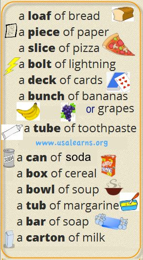 We added some clip art to make the meaning of containers ...