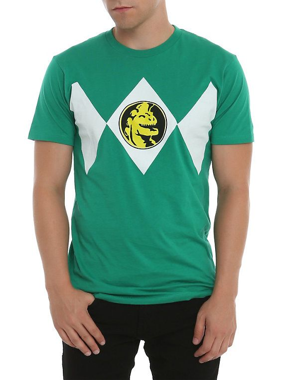 Mighty Morphin Power Rangers Green Ranger Costume T-Shirt. I'll try to look for this or a hood at hot topic sometime. #SonGokuKakarot