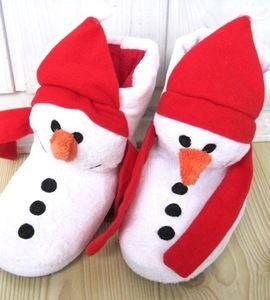 kapcie papucie zimowe bałwany rozm. 28 http://dzieciociuszek.pl/products/35303