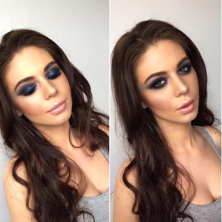 "288 Likes, 4 Comments - Alexeeva Victoria MakeupStudio (@alexeeva_victoria) on Instagram: ""💙#смокиайс  Продукты на глазах: 1. Тинт Armani #2 2. Карандаш Victoria 201 3. Тени: LN professional…"""