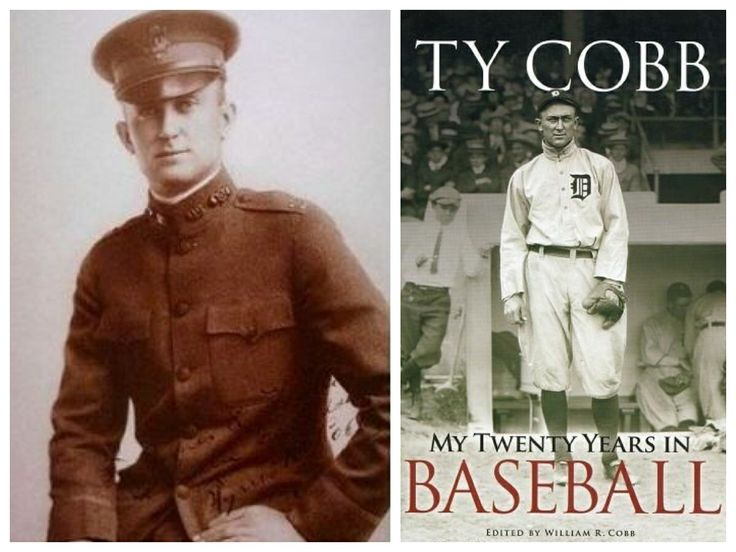 Ty Cobb-Army-1918-WW1-Captain-Chemical Warfare Service-Western Front (Major League Baseball)