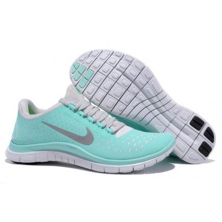 Nike Free 3.0 V4 Tiffany Blue Reflectiv Silver White Womens Shoes Mint Green