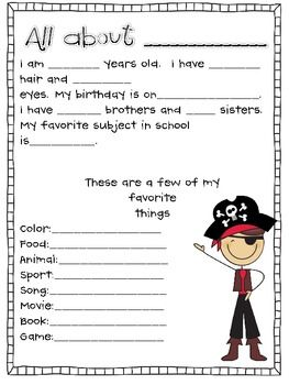 GETTING TO KNOW YOU SHEETS - TeachersPayTeachers.com                                                                                                                                                     More