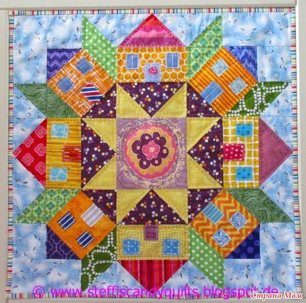 Покрывало Свун (Swoon quilt), дополнено, с размерами элементов блока - Лоскутное Шитьё - Страна Мам