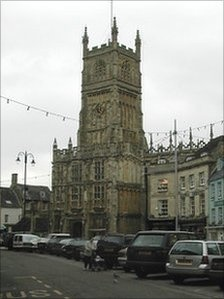 St. John the baptist in Cirencester town centre